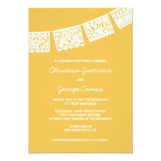 Papel Picado Yellow | Wedding Invitation