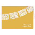 Papel Picado Yellow | Wedding Thank You Card