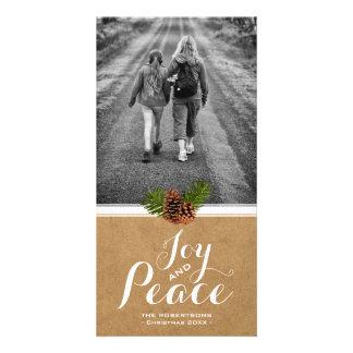 Papel Pinecones de la foto de los deseos del Tarjetas Personales Con Fotos