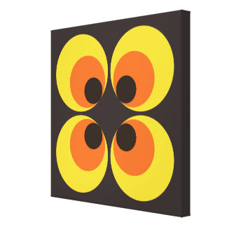 papel pintado 70s lona envuelta para galerias
