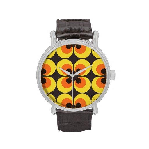 papel pintado 70s relojes de pulsera