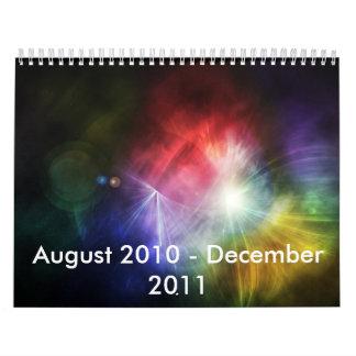 Papel pintado abstracto calendario