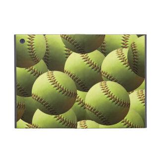 Papel pintado amarillo del softball iPad mini cobertura