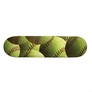 Papel pintado amarillo del softball monopatines personalizados