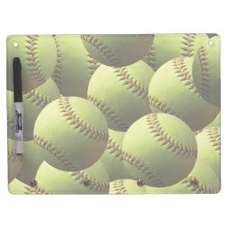 Papel pintado amarillo del softball pizarras blancas