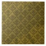 Papel pintado amarillo del vintage teja