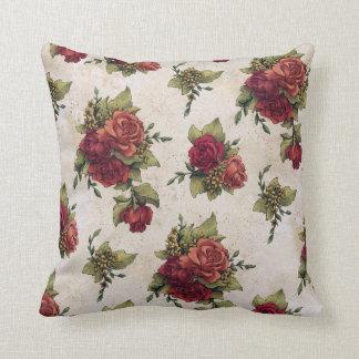 Papel pintado antiguo del rosa rojo almohada