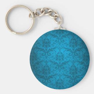 Papel pintado azul del damasco de la aguamarina de llaveros personalizados