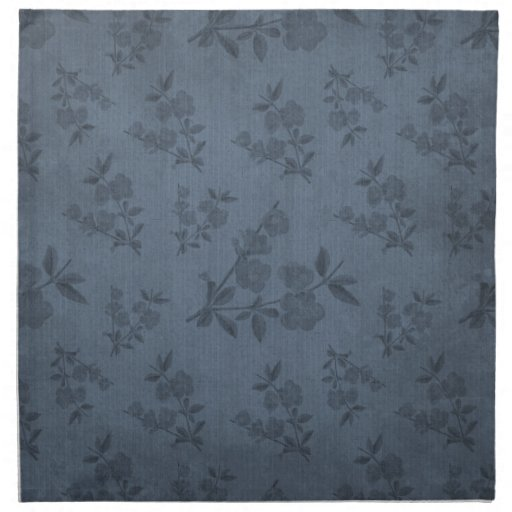 Papel pintado azul del vintage servilletas de papel