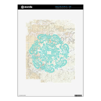 Papel pintado blanco Crackled con diseño asiático  Calcomanías Para iPad 2