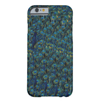 Papel pintado bonito de las plumas de pájaro del funda para iPhone 6 barely there