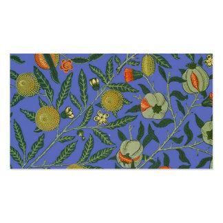 Papel pintado botánico del modelo de la granada tarjetas de visita