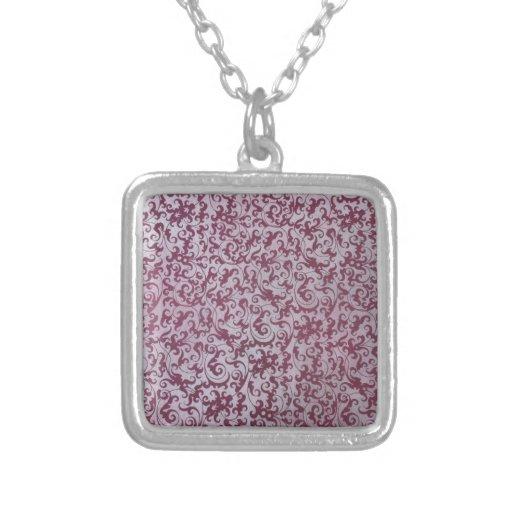 Papel pintado color de rosa polvoriento collar