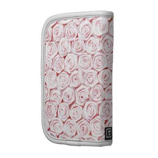 Papel pintado color de rosa rosado de seda organizadores