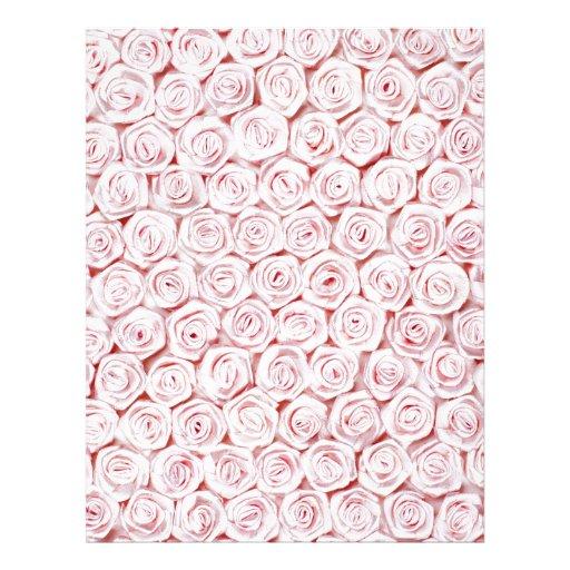 Papel pintado color de rosa rosado de seda membrete personalizado