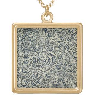 Papel pintado con diseño del estilo de la alga mar collar dorado