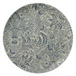 Papel pintado con diseño del estilo de la alga mar platos