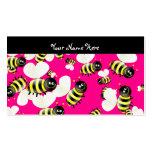 Papel pintado de la abeja, su nombre aquí tarjetas de visita