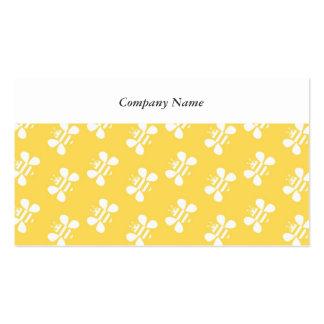 Papel pintado de la abeja tarjetas personales