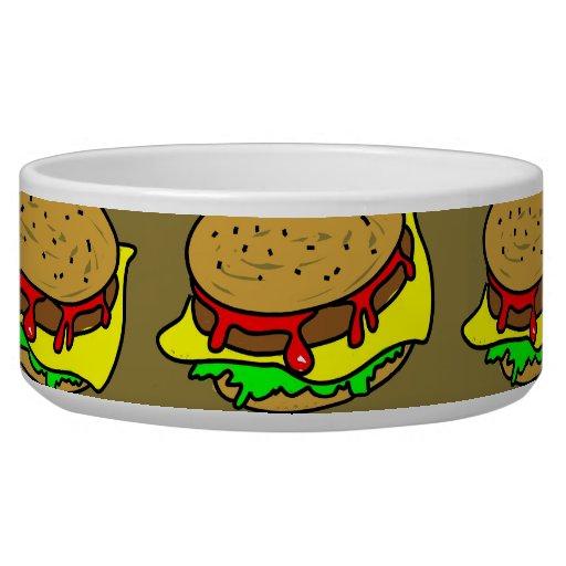 Papel pintado de la hamburguesa bol para perro
