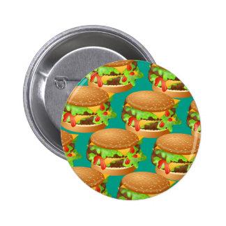 Papel pintado de la hamburguesa pin redondo 5 cm