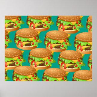 Papel pintado de la hamburguesa póster
