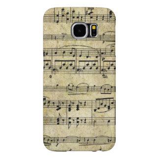 Papel pintado de la hoja de música del Victorian Fundas Samsung Galaxy S6