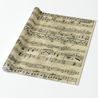 Papel pintado de la hoja de música del Victorian Papel De Regalo