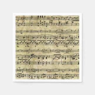 Papel pintado de la hoja de música del Victorian Servilletas De Papel