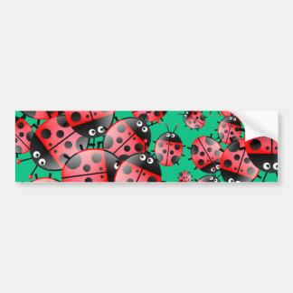 Papel pintado de la mariquita etiqueta de parachoque