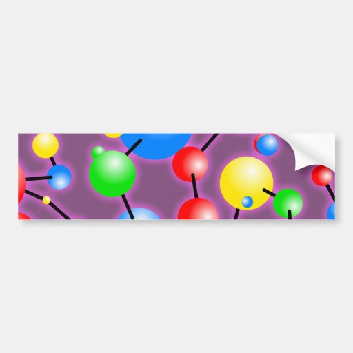 Papel pintado de la molécula etiqueta de parachoque