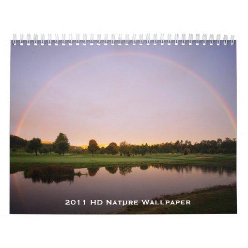Papel pintado de la naturaleza de 2011 HD Calendario De Pared