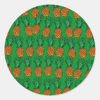Papel pintado de la piña etiquetas