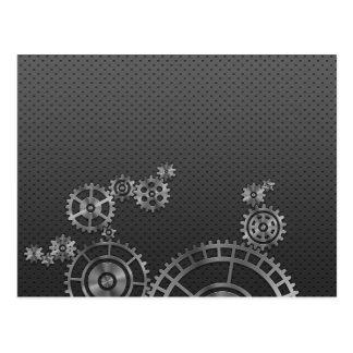 Papel pintado de la rueda de engranaje tarjeta postal