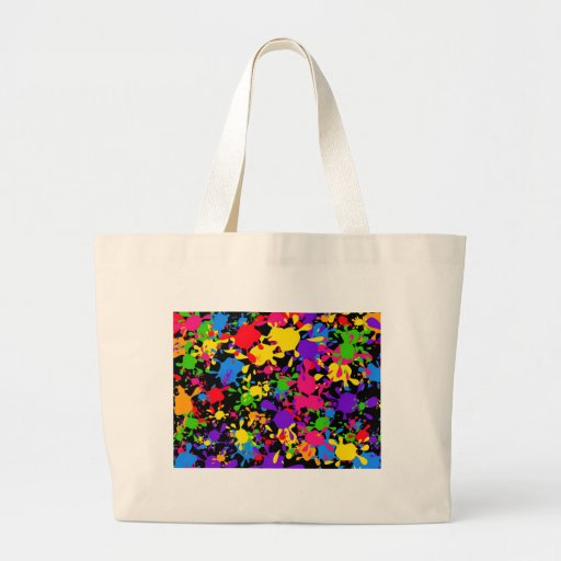 Papel pintado de la salpicadura bolsas de mano