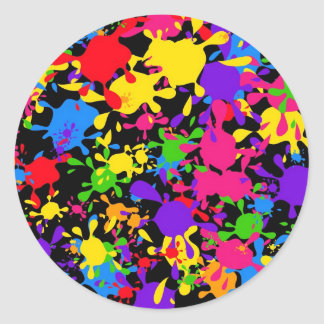 Papel pintado de la salpicadura pegatina redonda