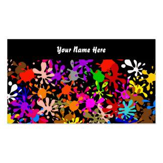 Papel pintado de la salpicadura, su nombre aquí tarjeta de visita