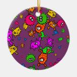 Papel pintado de las bacterias adorno redondo de cerámica