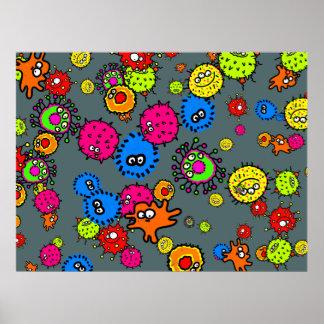 Papel pintado de las bacterias poster