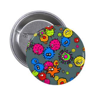 Papel pintado de las bacterias pin redondo 5 cm