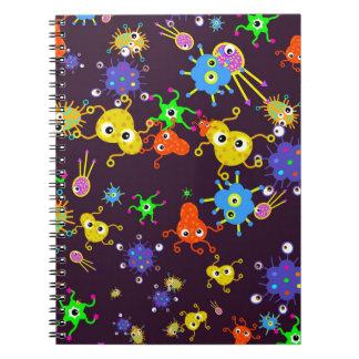 Papel pintado de las bacterias spiral notebooks