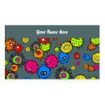 Papel pintado de las bacterias, su nombre aquí plantillas de tarjeta de negocio