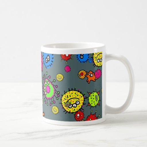 Papel pintado de las bacterias tazas de café