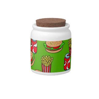 Papel pintado de los alimentos de preparación rápi jarra para caramelo