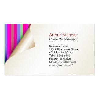 Papel pintado de remodelado casero del color de la tarjetas personales