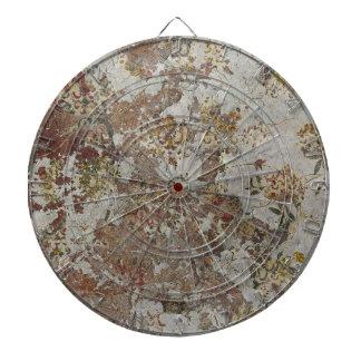 Papel pintado decaído de la flor tabla dardos