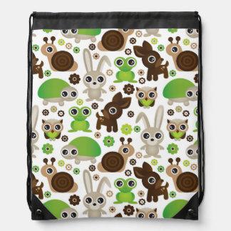 papel pintado del animal del conejito de la tortug mochilas