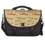 Papel pintado del café bolsas de portatil