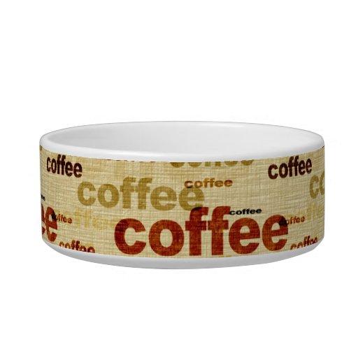 Papel pintado del café comedero para mascota