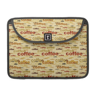Papel pintado del café fundas para macbooks
